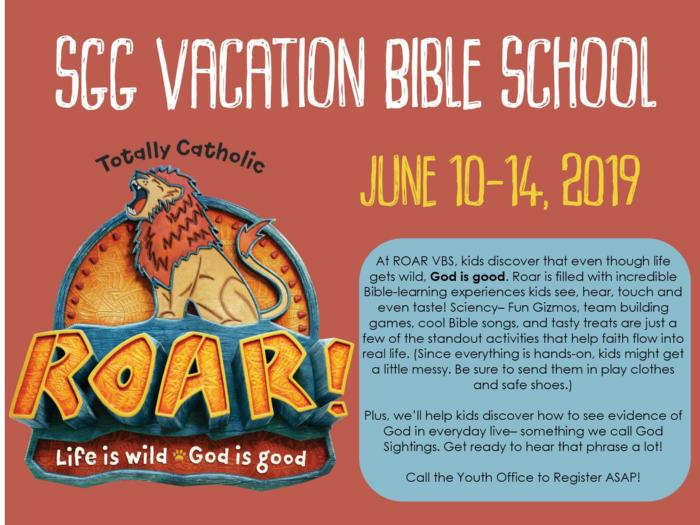 LIFE IS WILD - ROAR WITH SGG VACATION BIBLE SCHOOL! - News